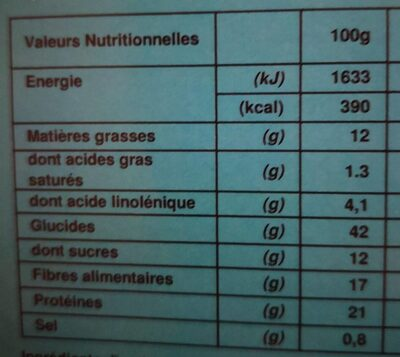Enjoyed repas fraise - Nutrition facts