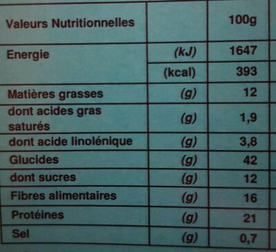 Enjoyed repas chocolat - Nutrition facts