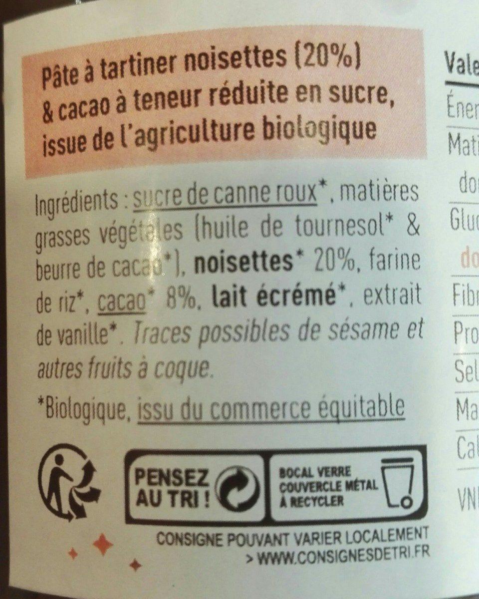 Pâte à étoiler cacao & noisettes - Ingredienti - fr