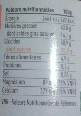 Pâte à étoiler cacao & noisettes - Valori nutrizionali - fr