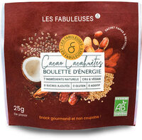 Boulettes d'énergie Cacao Cacahuètes BIO - Prodotto - fr