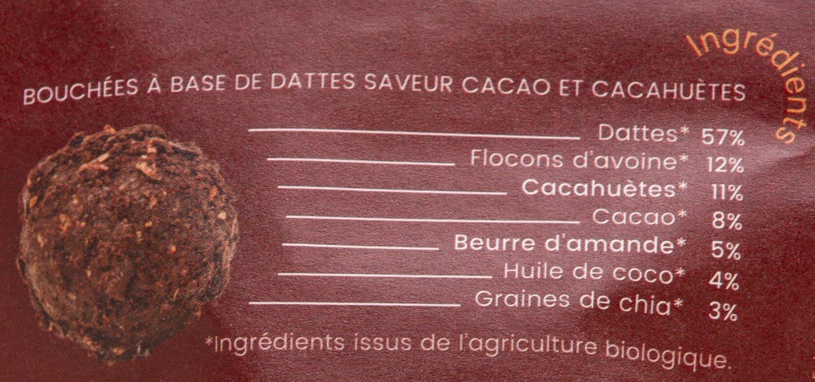 Boulettes d'énergie Cacao Cacahuètes BIO - Ingredienti - fr