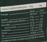 Boulettes d'énergie Coco Matcha BIO - Informazioni nutrizionali - fr
