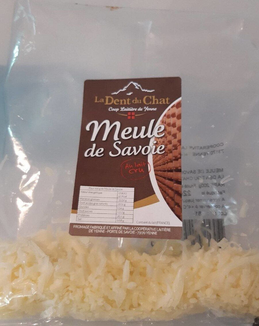 Meule de Savoie - Informations nutritionnelles - fr