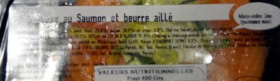 2 rosaces au saumon et beurre aillé - Ingrediënten - fr