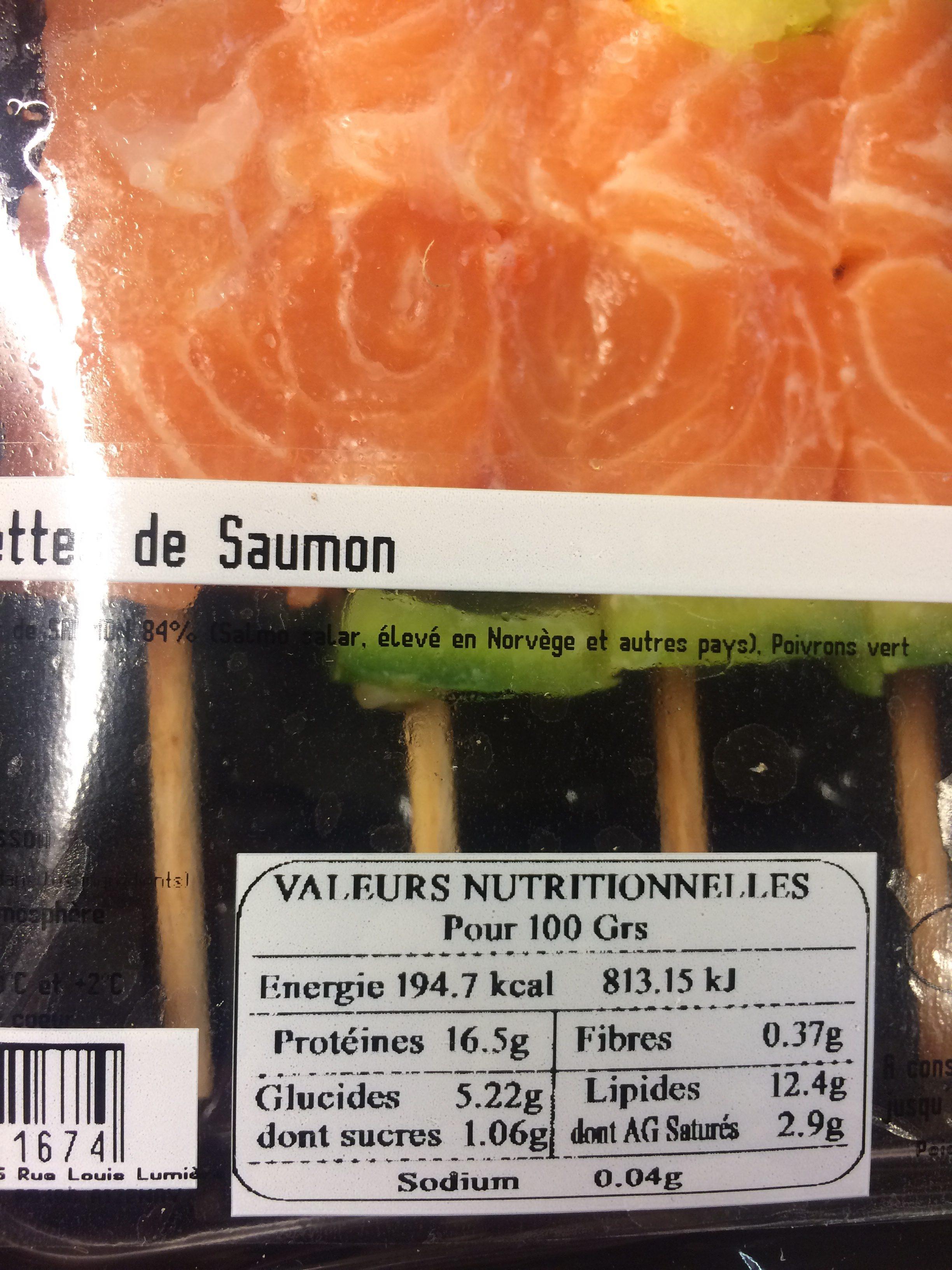 Brochettes de Saumon - Ingrediënten