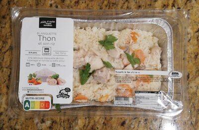Blanquette de thon et son riz - Produit