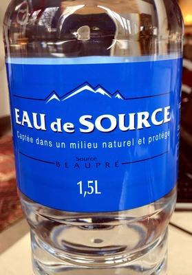 Eau de source Beaupré - Product - fr