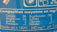 Eau de source Beaupré - Ingredients - fr