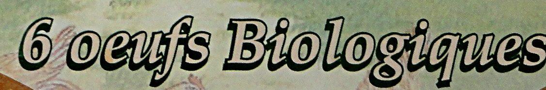 Oeufs Biologiques - Ingrédients - fr