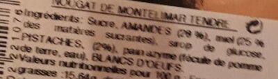 Nougat de montelimar - Ingredientes - fr