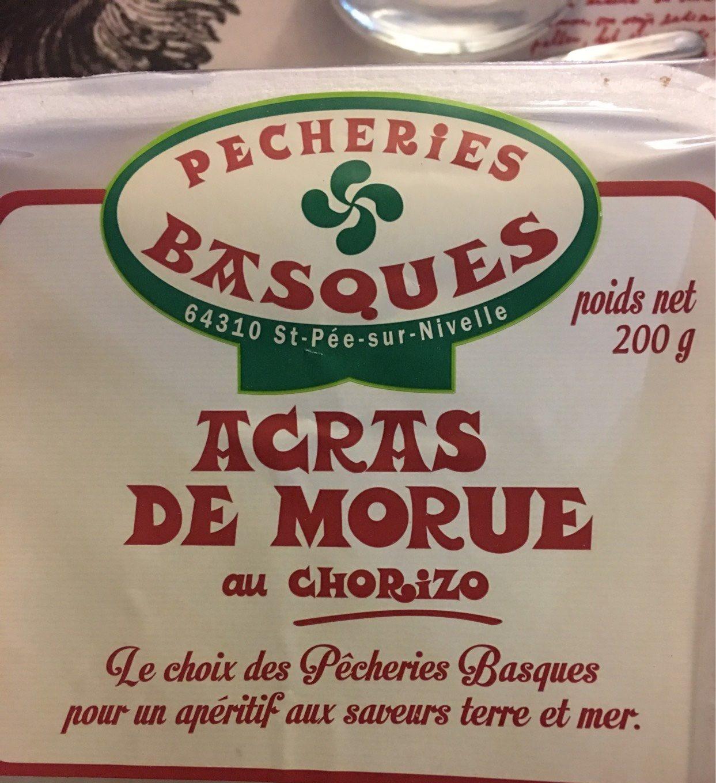 Acras de morue au chorizo - Produit - fr