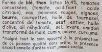 Chaussons au thon - Ingrédients