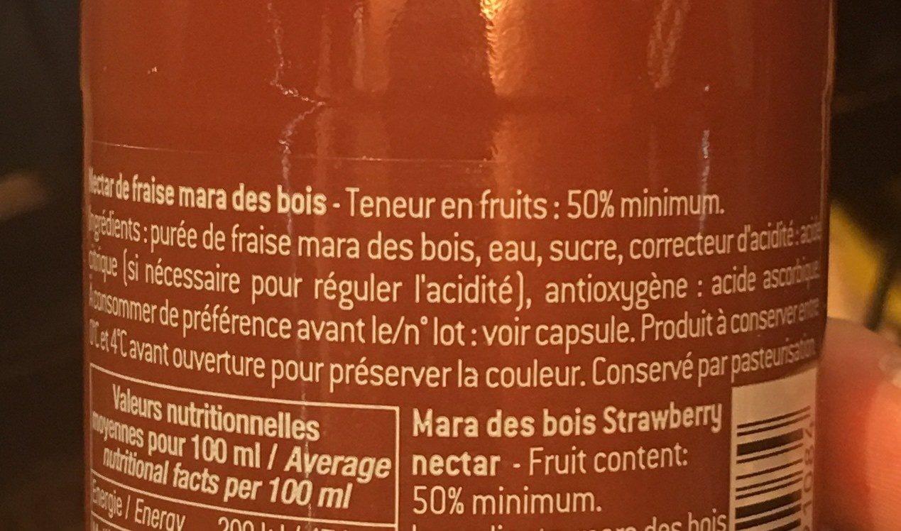 Fraise mara des bois - Ingredients