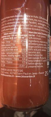 Fraise mara des bois - Nutrition facts