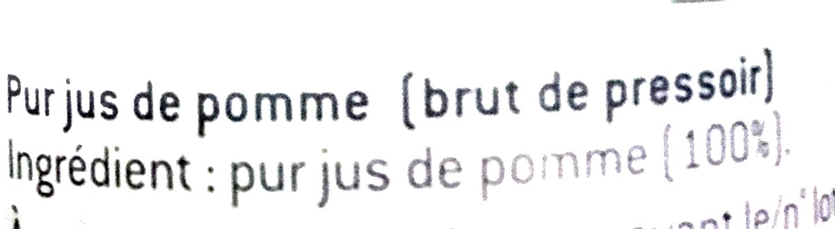 Pomme brute du pressoir - Ingredients