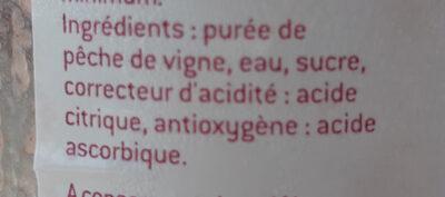 Nectar pêche de vigne - Ingredienti - fr