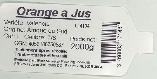 Orange Girsac - Ingrédients - fr