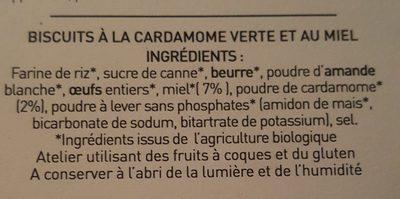 Cardamiel - Ingredients