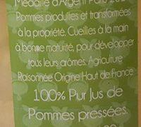 Cueillette tardive (Jus de pomme) 75cl - Ingredients - fr