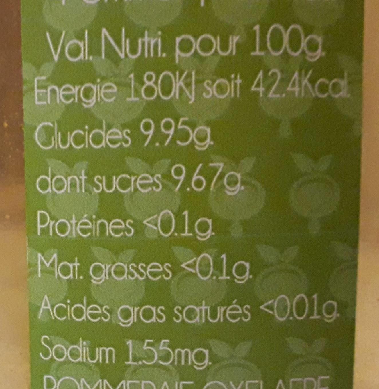 Cueillette tardive (Jus de pomme) 75cl - Nutrition facts - fr