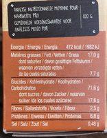 Sables Bio Crousti Caramel - Voedingswaarden