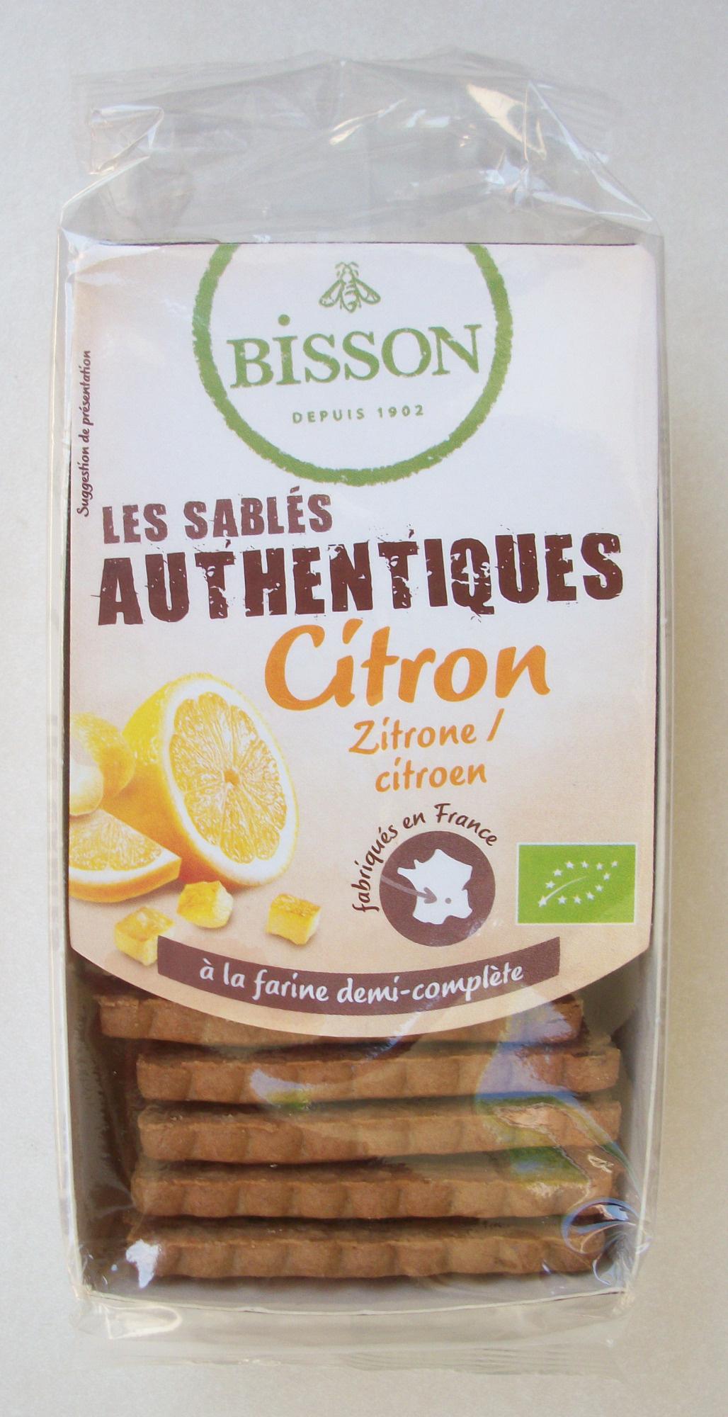 Les sablés authentiques - citron - Product