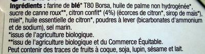 Les sablés authentiques - citron - Ingredients