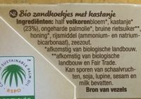 Les sablés authentiques châtaigne - Ingrediënten - nl