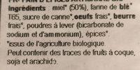 Epicerie / Epicerie Sucrée / Gâteaux, Biscuits, Encas - Ingrédients - fr