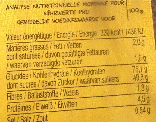 Epicerie / Epicerie Sucrée / Gâteaux, Biscuits, Encas - Informations nutritionnelles - fr