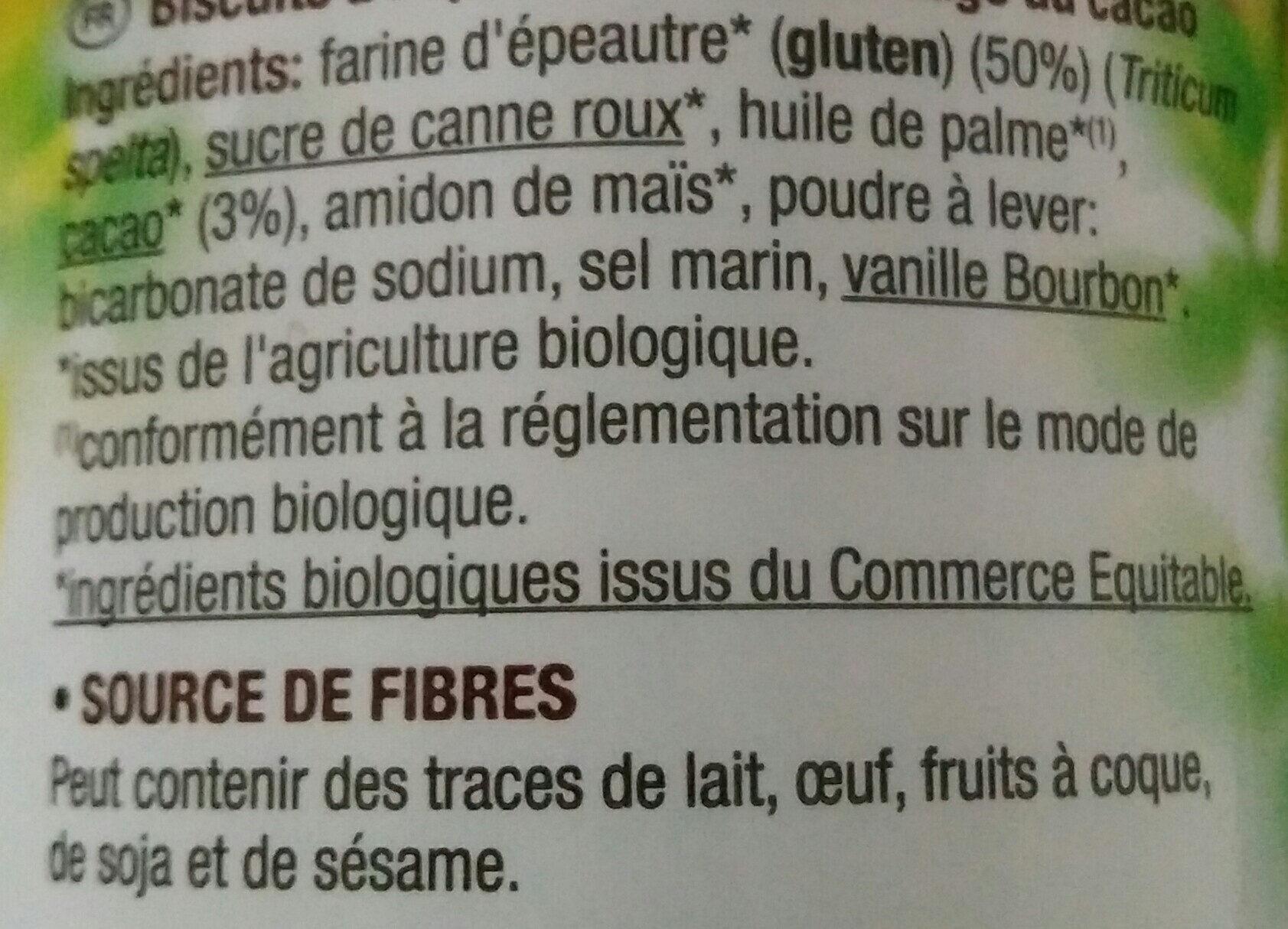 Choco Bisson cacao - Ingredienti - fr