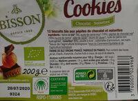 Cookies chocolat & noisettes - Ingrediënten - fr