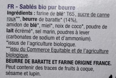 Petit beurre nature - Ingredients