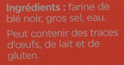 6 Galettes de ble noir LE GALLOUDEC - Ingredienti