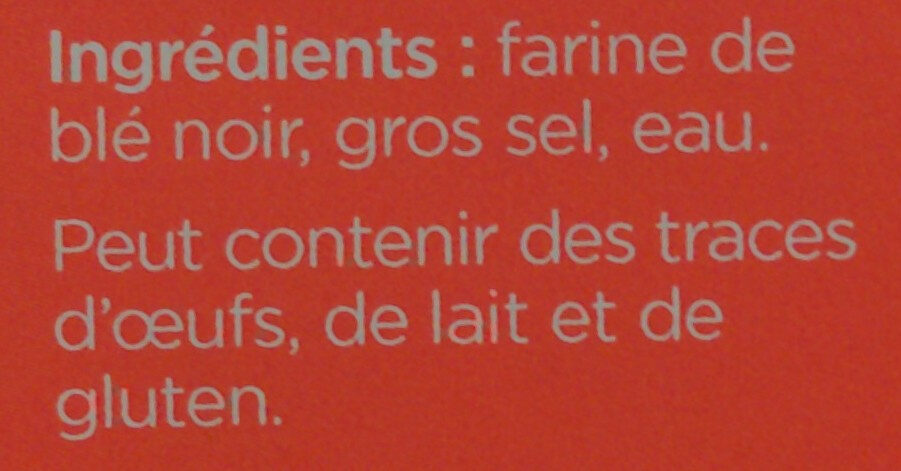 6 Galettes de ble noir LE GALLOUDEC - Ingredienti - fr