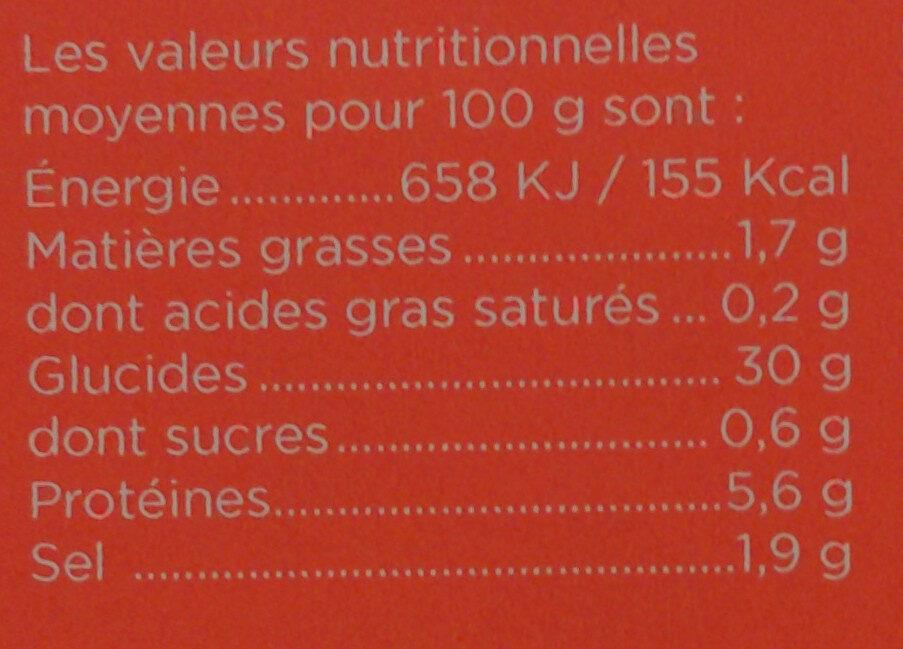 6 Galettes de ble noir LE GALLOUDEC - Valori nutrizionali - fr