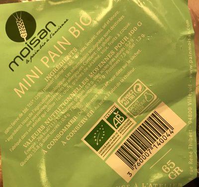 Mini pain bio - Ingredienti - fr