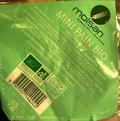 Mini pain bio - Valori nutrizionali - fr