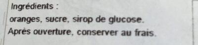 Fruits Confits - Ingrediënten - fr