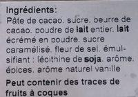 Noir Marbré Lait caramel Fleur de Sel - Ingrediënten - fr