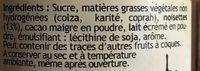 Chocolat a tartiner - Ingredienti - fr