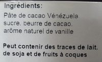 Chocolat noir Venezuela 71 % - Ingredients - fr