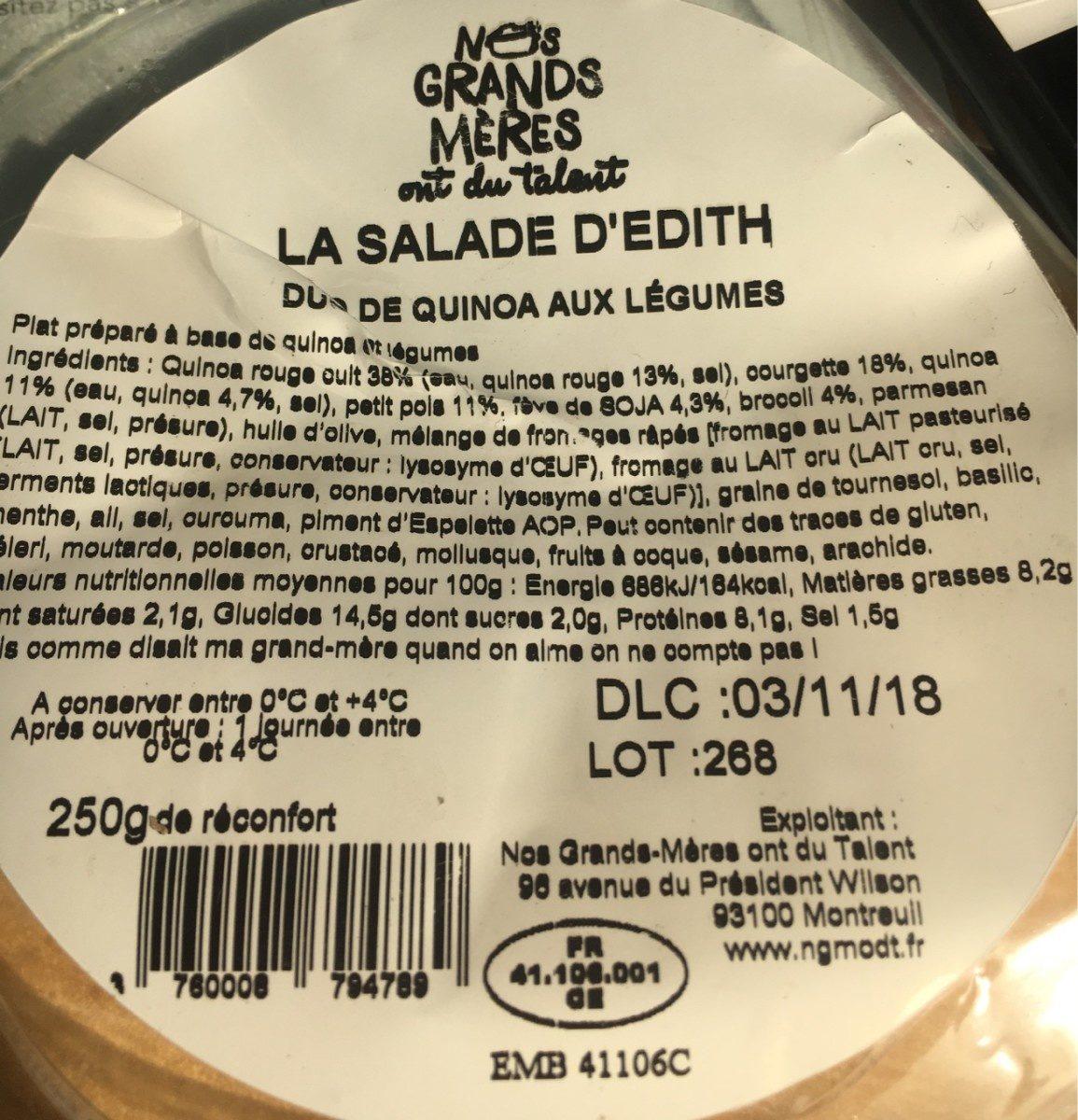 La salade d'edith - Ingrédients - fr