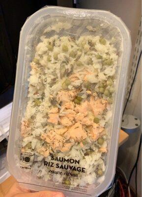 Saumon riz sauvage sauce citron - Produit - fr