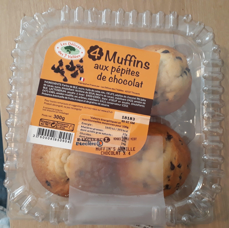 Muffins aux pepites de chocolat - Produit - fr
