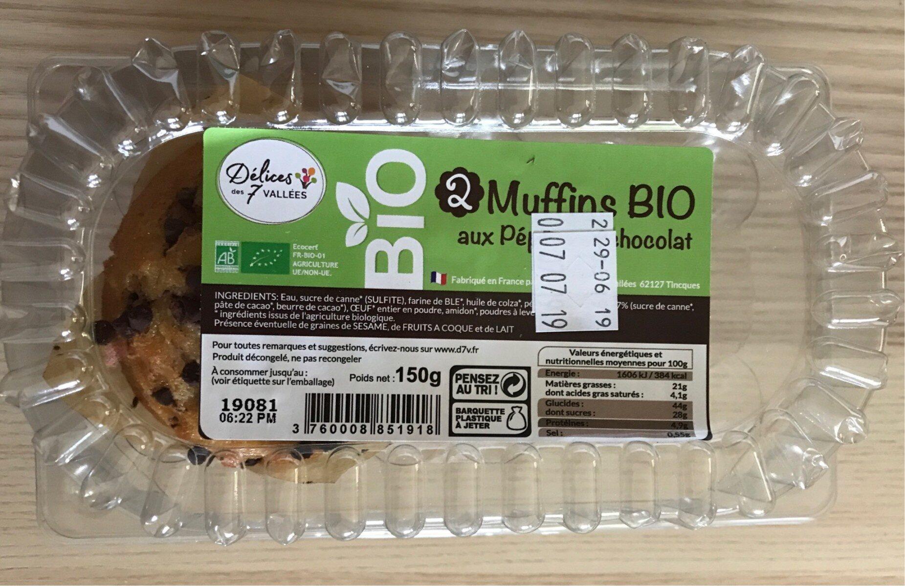 Muffins bio aux pepites de chocolat - Produit