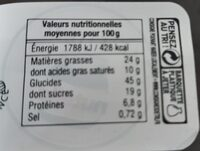 4 mini beignets - Nutrition facts - fr