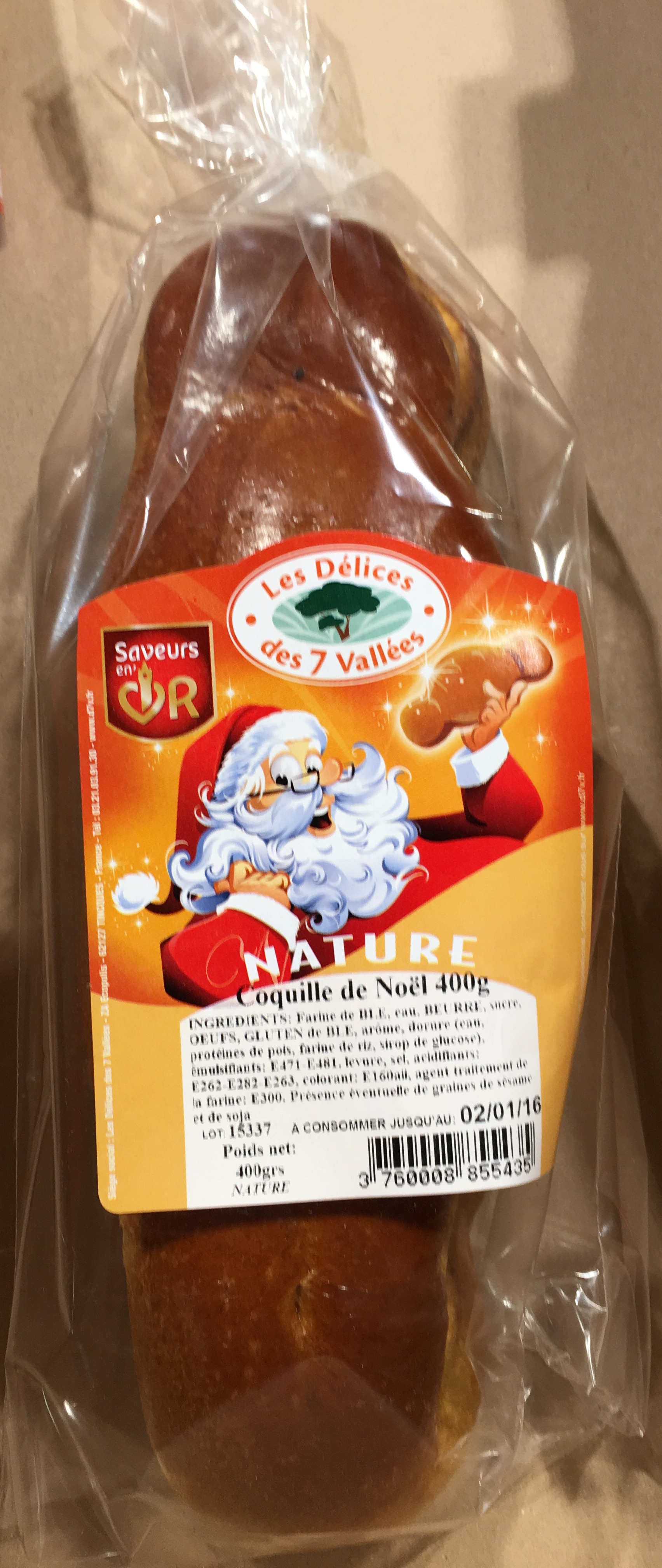Coquille de Noël Nature - Product - fr