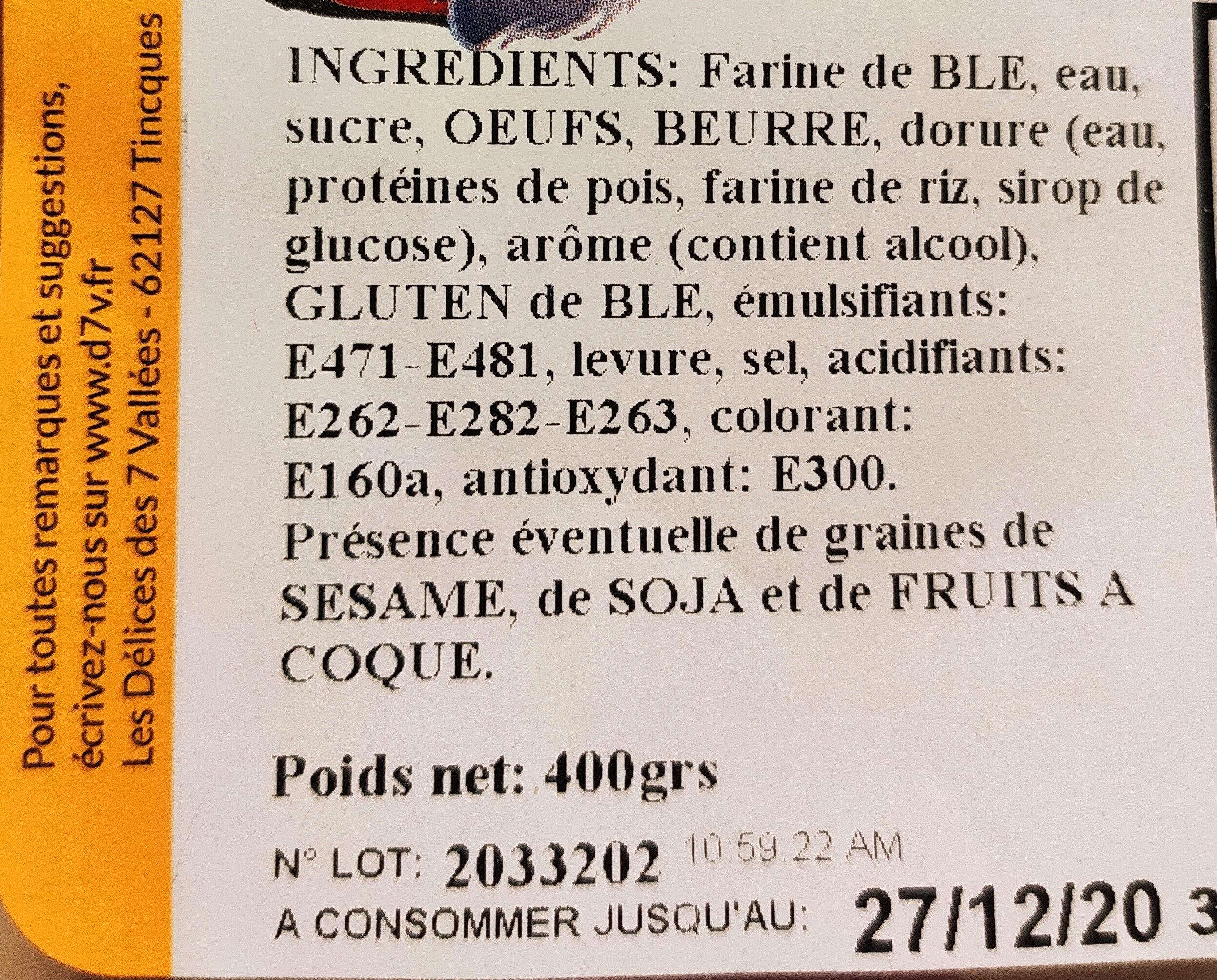Coquille de Noël Nature - Ingredients - fr